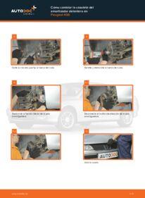 Cómo realizar una sustitución de Copelas Del Amortiguador en un PEUGEOT 406