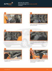 Wie der Wechsel durchführt wird: Radlager Honda Jazz gd 1.3 (GD1) 1.2 i-DSI (GD5, GE2) 1.3 iDSi tauschen