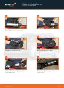 Wie der Wechsel durchführt wird: Kraftstofffilter BMW E60 530d 3.0 525d 2.5 520d 2.0 tauschen