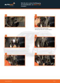 Wie der Wechsel durchführt wird: Stoßdämpfer BMW E60 530d 3.0 525d 2.5 520d 2.0 tauschen