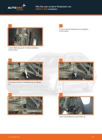 Wie der Wechsel durchführt wird: Domlager BMW E60 530d 3.0 525d 2.5 520d 2.0 tauschen