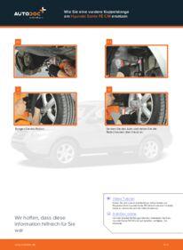 Wie der Wechsel durchführt wird: Koppelstange Hyundai Santa Fe cm 2.2 CRDi 4x4 2.2 CRDi GLS 4x4 2.2 CRDi tauschen