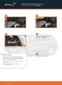 Wie der Wechsel durchführt wird: Domlager Hyundai Santa Fe cm 2.2 CRDi 4x4 2.2 CRDi GLS 4x4 2.2 CRDi tauschen
