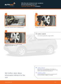 Wie der Wechsel durchführt wird: Querlenker Hyundai Santa Fe cm 2.2 CRDi 4x4 2.2 CRDi GLS 4x4 2.2 CRDi tauschen