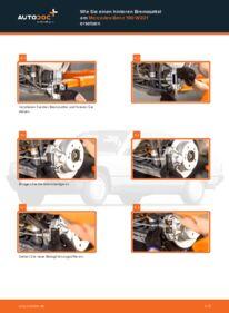 Wie der Wechsel durchführt wird: Bremssattel E 2.0 (201.024) Mercedes W201 tauschen