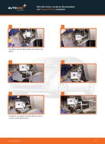 Wie der Wechsel durchführt wird: Bremssattel Toyota Prius 2 1.5 (NHW2_) 1.5 Hybrid (NHW2_) 1.5 (NHW2_) tauschen