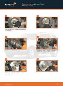 Ako vykonať výmenu: Brzdový kotouč na 2.0 (RD4) Honda CR-V II