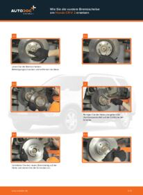 Wie der Wechsel durchführt wird: Bremsscheiben Honda CR-V II 2.0 (RD4) 2.2 CTDi (RD9) 2.0 tauschen