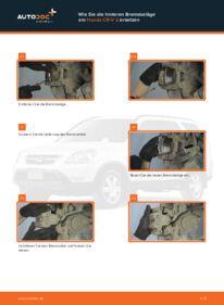 Wie der Wechsel durchführt wird: Bremsbeläge Honda CR-V II 2.0 (RD4) 2.2 CTDi (RD9) 2.0 tauschen