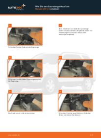 Wie der Wechsel durchführt wird: Spurstangenkopf 2.0 (RD4) Honda CR-V II tauschen