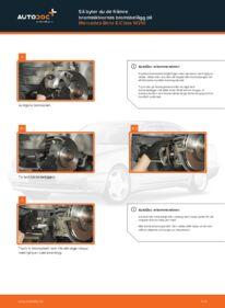Så byter du Bromsbelägg på E 300 3.0 Turbo Diesel (210.025) Mercedes W210