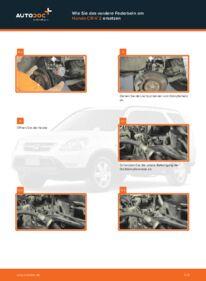 Wie der Wechsel durchführt wird: Domlager Honda CR-V II 2.0 (RD4) 2.2 CTDi (RD9) 2.0 tauschen