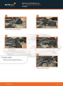 Wie der Wechsel durchführt wird: Zündkerzen Mercedes W210 E 300 3.0 Turbo Diesel (210.025) E 220 CDI 2.2 (210.006) E 200 2.0 (210.035) tauschen