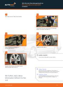 Wie der Wechsel durchführt wird: Spurstangenkopf Mercedes W210 E 300 3.0 Turbo Diesel (210.025) E 220 CDI 2.2 (210.006) E 200 2.0 (210.035) tauschen