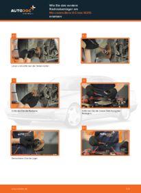 Wie der Wechsel durchführt wird: Radlager Mercedes W210 E 300 3.0 Turbo Diesel (210.025) E 220 CDI 2.2 (210.006) E 200 2.0 (210.035) tauschen