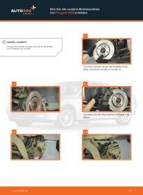 Wie der Wechsel durchführt wird: Bremsscheiben 2.0 HDI 110 Peugeot 406 Kombi tauschen