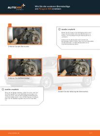Wie der Wechsel durchführt wird: Bremsbeläge 2.0 HDI 110 Peugeot 406 Kombi tauschen