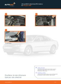 Jak provést výměnu: Vzduchovy filtr na 2.0 HDI 110 Peugeot 406 Combi