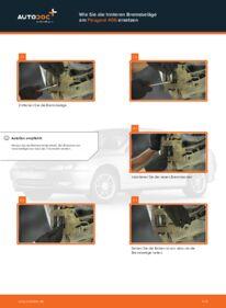 Wie der Wechsel durchführt wird: Bremsbeläge Peugeot 406 Kombi 2.0 HDI 110 2.0 16V 1.8 16V tauschen