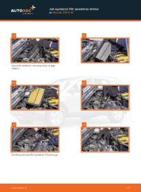 Jak przeprowadzić wymianę: Filtr powietrza w 2.2 i-CTDi 4WD (RE6) Honda CR-V III