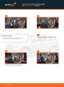Wie der Wechsel durchführt wird: Bremsbeläge 2.2 i-CTDi 4WD (RE6) Honda CR-V III tauschen