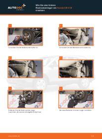 Wie der Wechsel durchführt wird: Radlager Honda CR-V III 2.2 i-CTDi 4WD (RE6) 2.0 i 4WD (RE5) 2.2 i-DTEC 4WD (RE6) tauschen