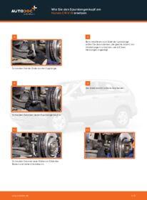 Wie der Wechsel durchführt wird: Spurstangenkopf Honda CR-V III 2.2 i-CTDi 4WD (RE6) 2.0 i 4WD (RE5) 2.2 i-DTEC 4WD (RE6) tauschen