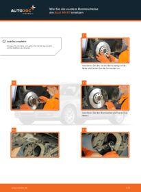 Wie der Wechsel durchführt wird: Bremsscheiben Audi A4 b7 2.0 TDI 2.0 TDI 16V 1.9 TDI tauschen
