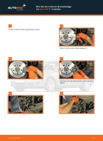 Wie der Wechsel durchführt wird: Bremsbeläge 2.0 TDI Audi A4 b7 tauschen