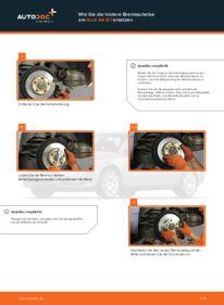 Wie der Wechsel durchführt wird: Bremsscheiben 2.0 TDI Audi A4 b7 tauschen
