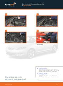 Jak przeprowadzić wymianę: Filtr powietrza w 1.6 Mazda 3 bk