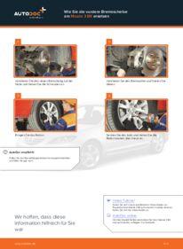 Wie der Wechsel durchführt wird: Bremsscheiben Mazda 3 bk 1.6 1.6 DI Turbo 2.0 tauschen