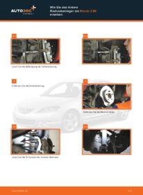 Wie der Wechsel durchführt wird: Radlager Mazda 3 bk 1.6 1.6 DI Turbo 2.0 tauschen