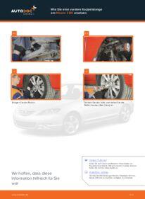 Wie der Wechsel durchführt wird: Koppelstange Mazda 3 bk 1.6 1.6 DI Turbo 2.0 tauschen