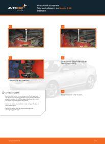 Wie der Wechsel durchführt wird: Federn Mazda 3 bk 1.6 1.6 DI Turbo 2.0 tauschen