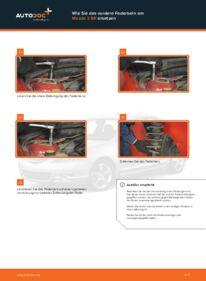 Wie der Wechsel durchführt wird: Domlager Mazda 3 bk 1.6 1.6 DI Turbo 2.0 tauschen