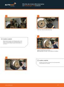 Wie der Wechsel durchführt wird: Bremsscheiben VW T5 Pritsche 2.5 TDI 2.5 TDI 4motion 1.9 TDI tauschen