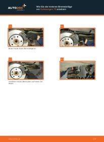 Wie der Wechsel durchführt wird: Bremsbeläge VW T5 Pritsche 2.5 TDI 2.5 TDI 4motion 1.9 TDI tauschen