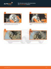 Wie der Wechsel durchführt wird: Bremsscheiben Audi 80 b4 2.0 2.0 E 1.9 TDI tauschen