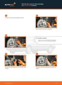 Wie der Wechsel durchführt wird: Bremsbeläge Audi 80 b4 2.0 2.0 E 1.9 TDI tauschen