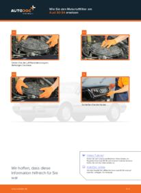 Wie der Wechsel durchführt wird: Luftfilter Audi 80 b4 2.0 2.0 E 1.9 TDI tauschen