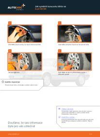 Jak provést výměnu: Hlava příčného táhla řízení na 2.0 Audi 80 b4
