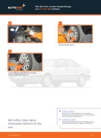Wie der Wechsel durchführt wird: Koppelstange Audi 80 b4 2.0 2.0 E 1.9 TDI tauschen