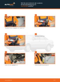 Wie der Wechsel durchführt wird: Querlenker Audi 80 b4 2.0 2.0 E 1.9 TDI tauschen