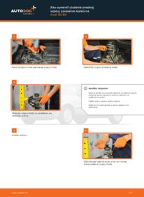 Ako vykonať výmenu: Horné Uloženie Tlmiča na 2.0 Audi 80 b4