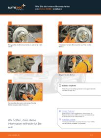 Wie der Wechsel durchführt wird: Bremsscheiben Volvo XC90 1 2.4 D5 2.5 T AWD 2.9 T6 tauschen