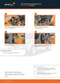 Wie der Wechsel durchführt wird: Spurstangenkopf Volvo XC90 1 2.4 D5 2.5 T AWD 2.9 T6 tauschen