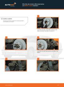 Wie der Wechsel durchführt wird: Bremsscheiben BMW E36 Compact 316i 1.6 316i 1.9 323ti 2.5 tauschen