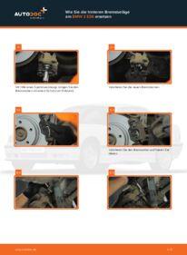 Wie der Wechsel durchführt wird: Bremsbeläge BMW E36 Compact 316i 1.6 316i 1.9 323ti 2.5 tauschen