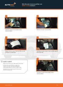 Wie der Wechsel durchführt wird: Innenraumfilter BMW E36 Compact 316i 1.6 316i 1.9 323ti 2.5 tauschen